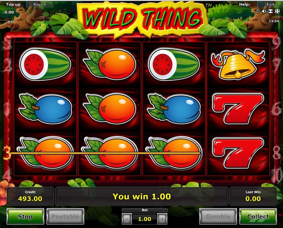 Wild Thing Дикая штучка от Novomatic - Игровые автоматы на.